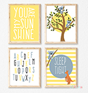 Prints Modern Nursery Room Decor Boys Koala Sunshine Australia
