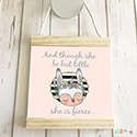 Hanging Pendant Print Scroll Sign Nursery Decor Girls Though She