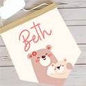 Nursery Decor Pendant Flag Name Sign Girl Bear Hug