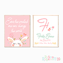 Nursery Prints Personalised Decor Girl, Even the Smallest