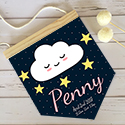 Nursery Decor Pendant Flag Name Sign Girl Cloud Star