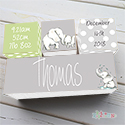 Nursery Birth Detail Wooden Name Blocks Boy Elephant Watercolor