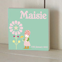 Little Gnome Girl Wooden Name Plaque