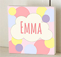 Gold Cloud Wooden Name Plaque