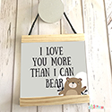 Hanging Pendant Print Scroll Sign Nursery Boys Love You More