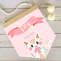 Nursery Decor Pendant Flag Name Sign Girl Cute Cat