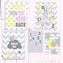 Moon and Back Pink Multiple Print Set