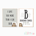 Nursery Prints Personalised Decor Boy More Than I can Bear