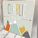 Personalised Wooden Name Plaque Boys Decor Mountains