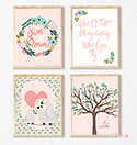 Prints Modern Nursery Room Decor Girls Owl Darling