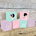 Pastel Fairy Personalised Letter Wooden Blocks