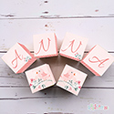 Personalised Wooden Letter Name Blocks Girls Pink Birds