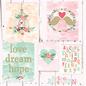 Love Dream Hope Print Set Nursery Art Wall Decor