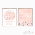Nursery Prints Personalised Decor Girl Floral Wildflower