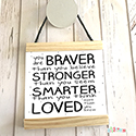 Hanging Pendant Print Scroll Sign Nursery Boys You Are Braver