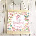 Hanging Pendant Print Scroll Sign Nursery Girls You Are Greatest